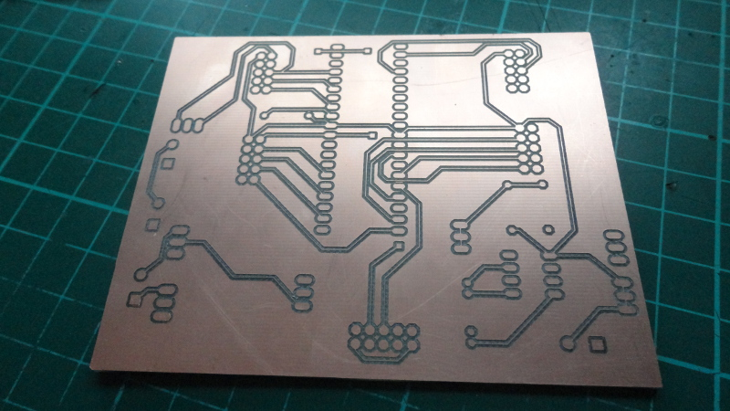 A CNC Isolation milled PCB creation using the AutoLeveller