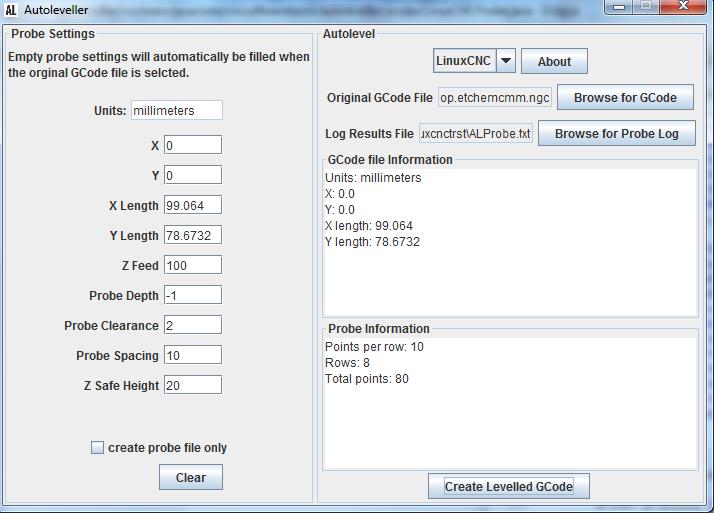 Autoleveller 0.8 GUI CNC PCB Software