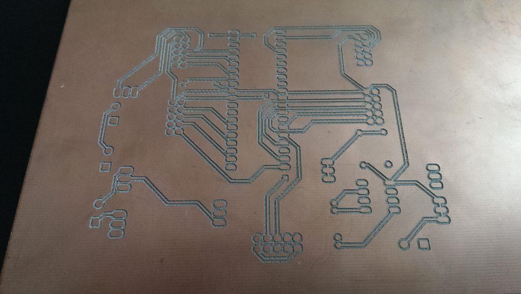 CNC etched Autoleveller board v0.8